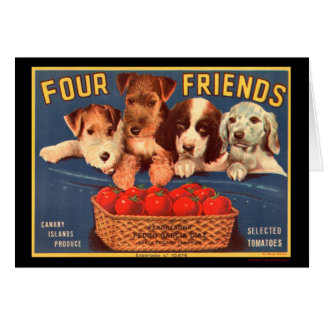 KRW Vintage Four Friends Crate Label Card