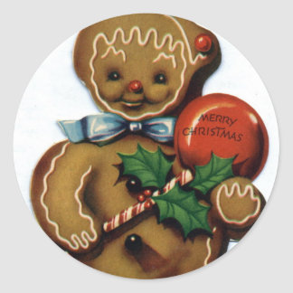 KRW Vintage Gingerbread Man Holiday Sticker