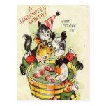 KRW Vintage Halloween Howdy Cute Postcard