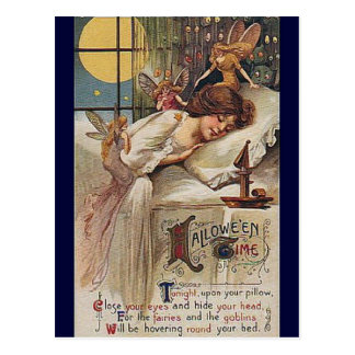 KRW Vintage Halloween Time Postcard