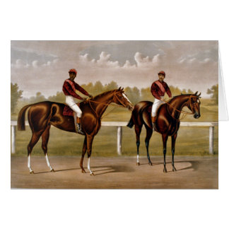 KRW Vintage Horse Racing Card - Customized