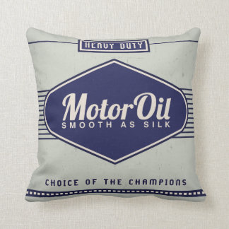 KRW Vintage Motor Oil Label Decor Pillow