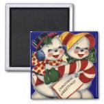 KRW Vintage Snowcouple Christmas Magnet
