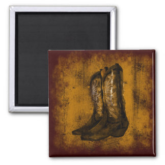 KRW Western Wear Cowboy Boots Square Magnet