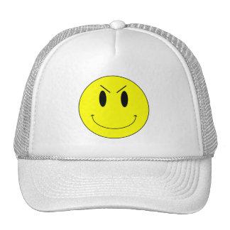KRW Yellow Evil Smiley Face Trucker Hat