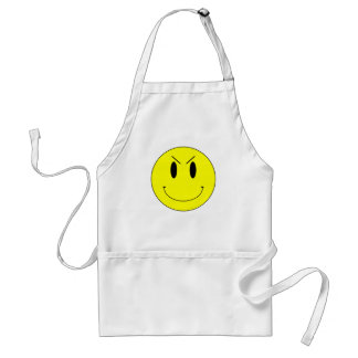 KRW Yellow Evil Smiley Face Standard Apron