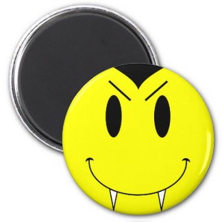 KRW Yellow Smiley Face Vampire Refrigerator Magnet