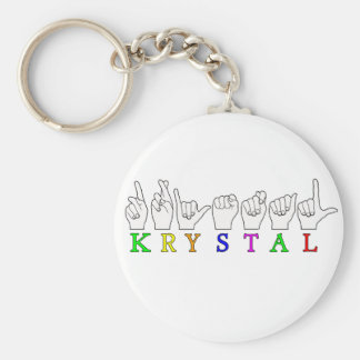 KRYSTAL ASL FINGERSPELLED NAME FEMALE SIGN KEY RING