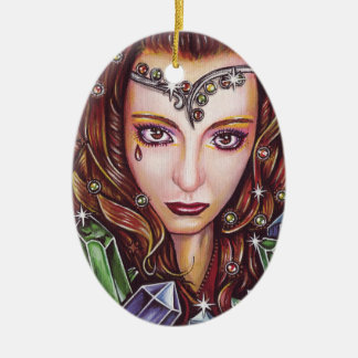 Krystalline Ceramic Ornament