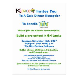 Kspace Invitation Postcard