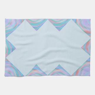 Ktichen towel with rainbow swirl pattern