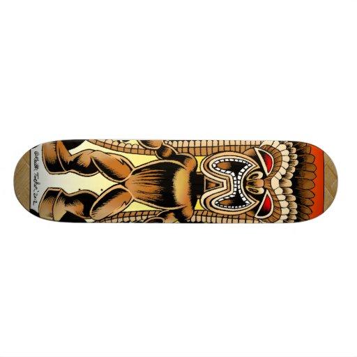 Ku, Hawaiian Tiki God Skate Deck