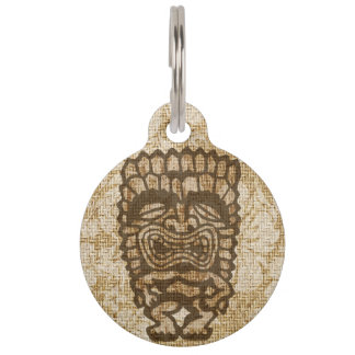 Ku-Tiki Hawaiian Distressed Hibiscus Pet ID Tag