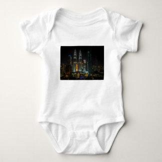 Kuala Lumpar Skyline At Night Baby Bodysuit