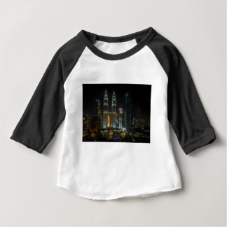 Kuala Lumpar Skyline At Night Baby T-Shirt