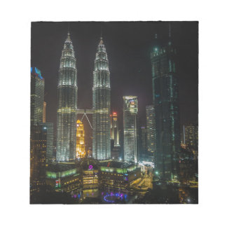 Kuala Lumpar Skyline At Night Notepad