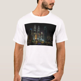 Kuala Lumpar Skyline At Night T-Shirt