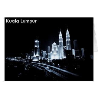 Kuala Lumpur beautiful night lights scenery Greeting Cards