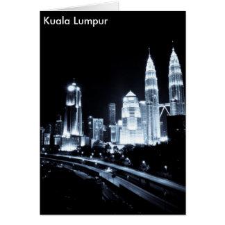 Kuala Lumpur beautiful night lights scenery Greeting Card