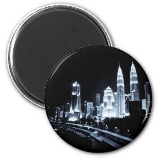 Kuala Lumpur beautiful night lights scenery Magnet