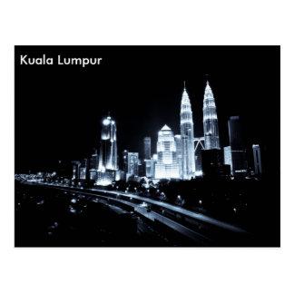 Kuala Lumpur beautiful night lights scenery Postcards