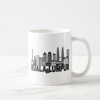 Kuala Lumpur City Skyline Text Black and White Ill Coffee Mug