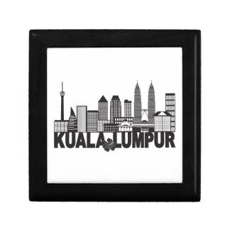 Kuala Lumpur City Skyline Text Black and White Ill Gift Box
