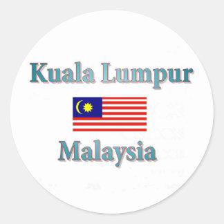 Kuala Lumpur Classic Round Sticker