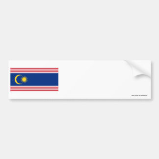 Kuala Lumpur flag Bumper Sticker
