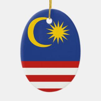 kuala lumpur flag ceramic oval decoration