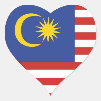 kuala lumpur flag heart sticker