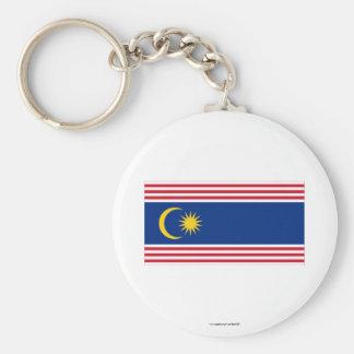 Kuala Lumpur flag Basic Round Button Key Ring