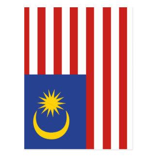 kuala lumpur flag postcard