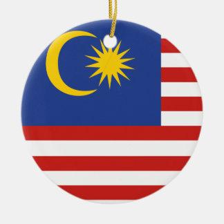 kuala lumpur flag round ceramic decoration