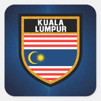 Kuala Lumpur Flag Square Sticker