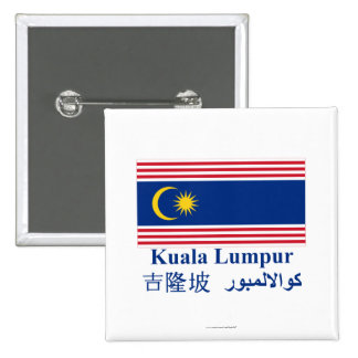 Kuala Lumpur flag with name Buttons