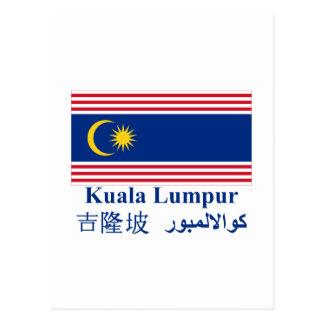 Kuala Lumpur flag with name Postcards