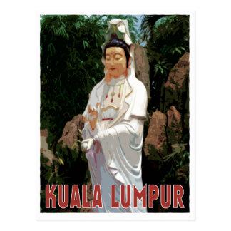 Kuala Lumpur GuanYin vintage style Postcard