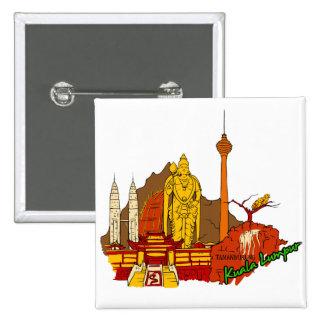 Kuala Lumpur - Mayalsia png Pinback Button