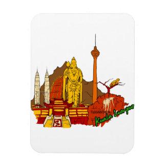 Kuala Lumpur - Mayalsia.png Flexible Magnet