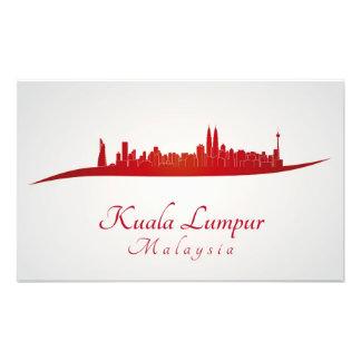 Kuala Lumpur skyline in network Photo Print