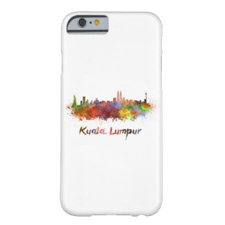 Kuala Lumpur skyline in watercolor Barely There iPhone 6 Case