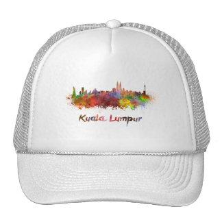 Kuala Lumpur skyline in watercolor Cap