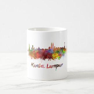 Kuala Lumpur skyline in watercolor Coffee Mug
