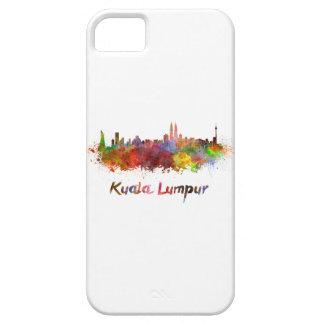 Kuala Lumpur skyline in watercolor iPhone 5 Cover