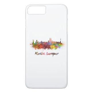 Kuala Lumpur skyline in watercolor iPhone 7 Plus Case