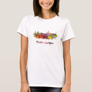 Kuala Lumpur skyline in watercolor T-Shirt