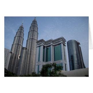 Kuala lumpur twin towers note card