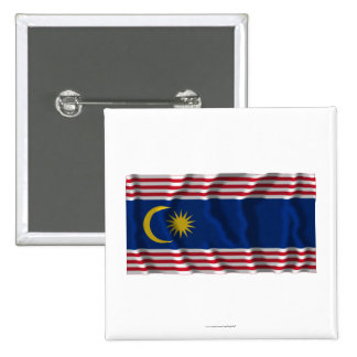 Kuala Lumpur waving flag Pinback Button