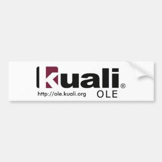 Kuali OLE Bumper Sticker w/URL Car Bumper Sticker